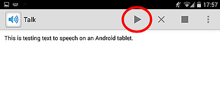Text to speech - Android 2