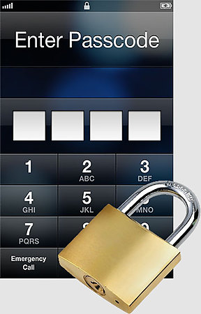 iPhone lock screen padlock